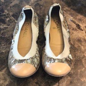 Chanel sequin ballerinas